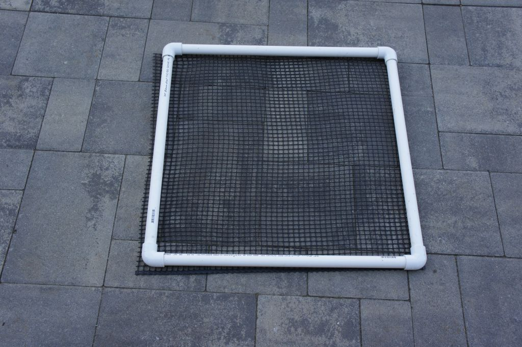 Attach net to door square