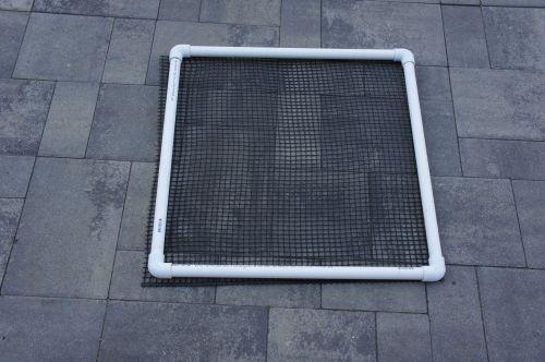 Attach net to door square