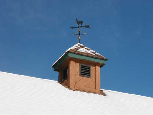 Snow covered cupola