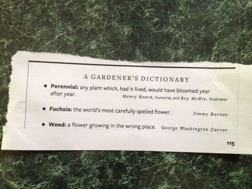 Gardener's Dictionary