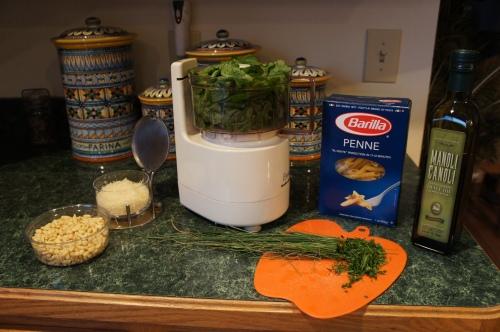 Ingredients for Garlic Mustard Pesto